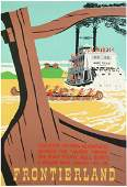 "Original Disneyland ""Frontierland"" Attraction Poster."