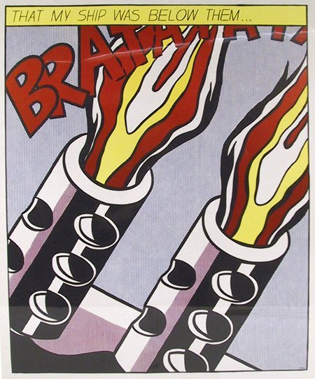 3208: Roy Lichtenstein, As I Opened Fire, Triptych