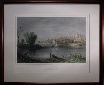 4000: Albany, Ships at Port, Offset Lithograph