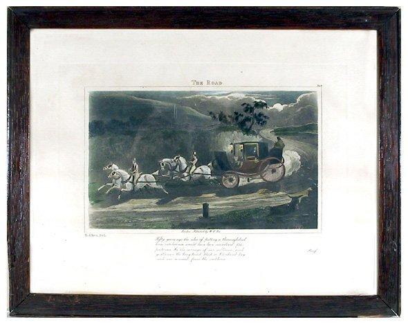 4001: H. Alken Del, The Road, Victorian Lithograph