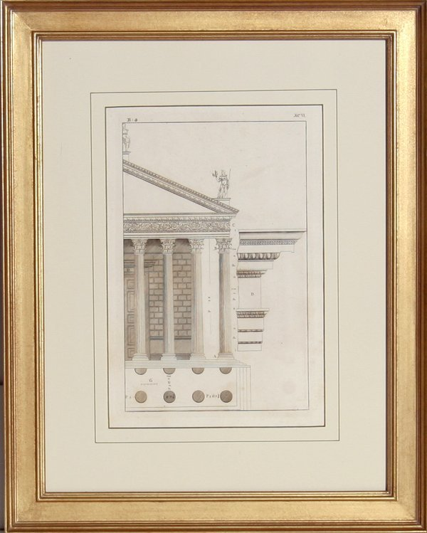 4012: Architectural Engraving, 19th Century