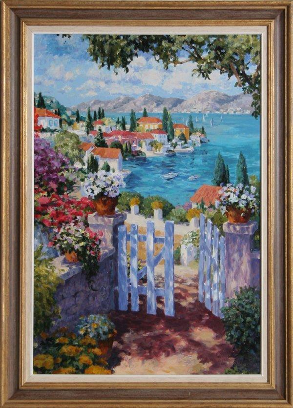 4015: Julian Askins, Garden Gate, Oil on Canvas
