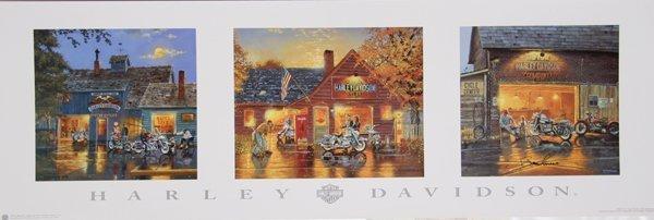 4021: Barnhouse, Harley Davidson, Serigraph