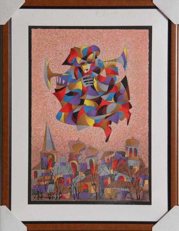 4120: Anatole Krasnyansky, Celebration, Serigraph
