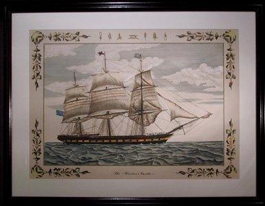 4219: Windsor Castle, Sailing Ship, Lithograph