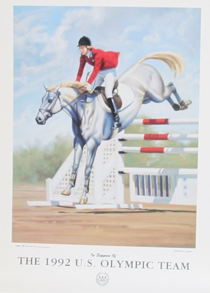 706: Anthony M. Alonso, 1992 Olympics, Equestrian Poste
