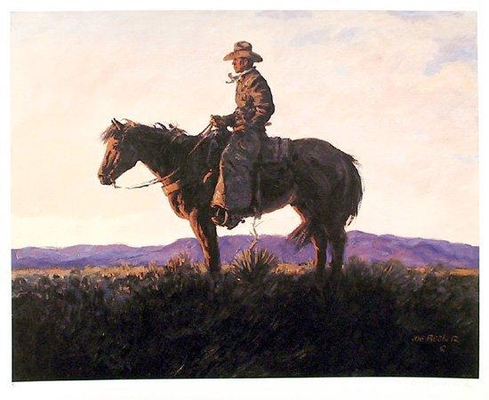 713: Joe Beeler, Arizona Evening, Western Lithograph