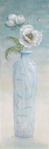 716: Viv Bowles, Blue Crystal, Floral Offset Lithograph