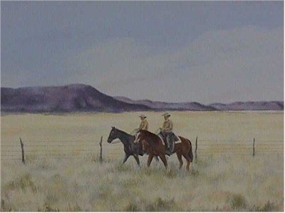 719: Gwendolyn Branstetter, Fence Riders, Western Litho
