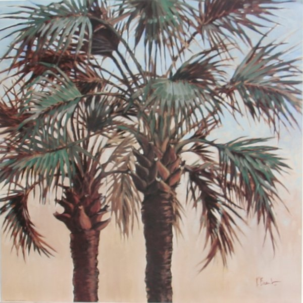 722: Paul Brent, Palm Trees, Tropical Offset Lithograph