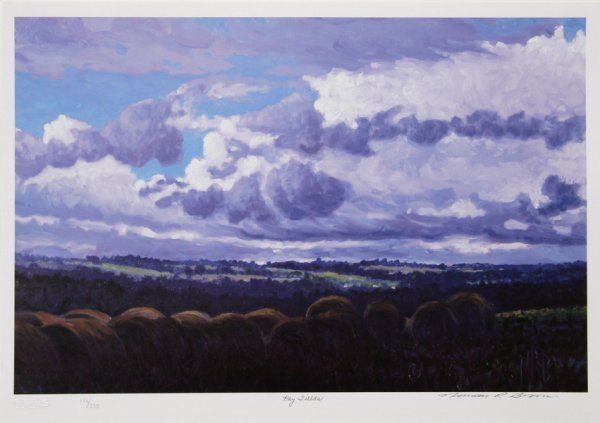 724: Norman Brown, Hay Fields, Lithograph
