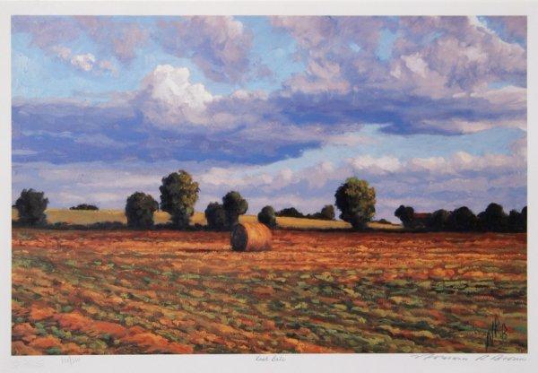 725: Norman Brown, Last Bale, Farm Lithograph