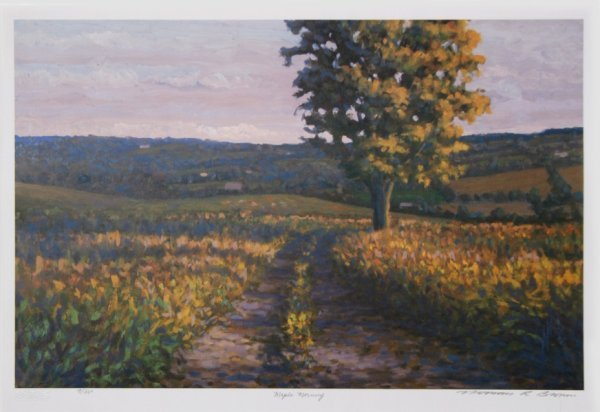 726: Norman Brown, Maple Morning, Landscape Lithograph