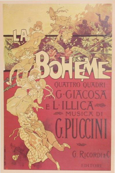 904: Adolpho Hohenstein, La Boheme, Poster