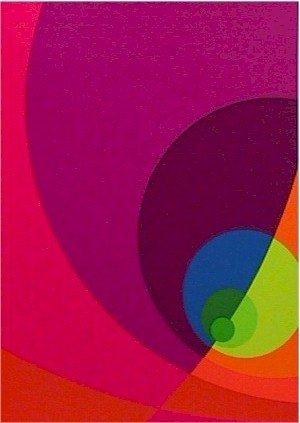 1: Herbert Aach, Signed Lithograph Print, Optical Art