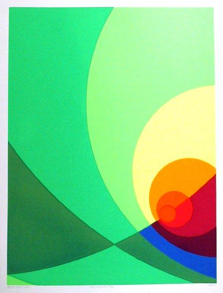2: Herbert Aach, Signed Lithograph Print, Optical Art