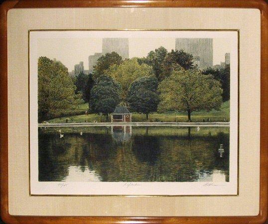 7: Harold Altman, Signed Lithograph, Landscape