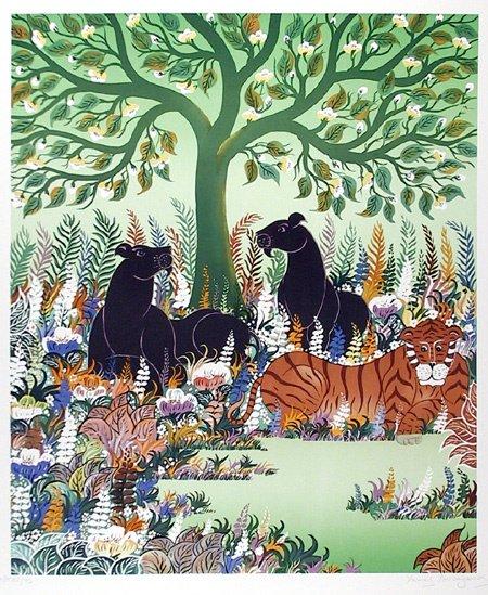 17: Amoryanos, Stylized Wildlife Print, Panthers, Tiger