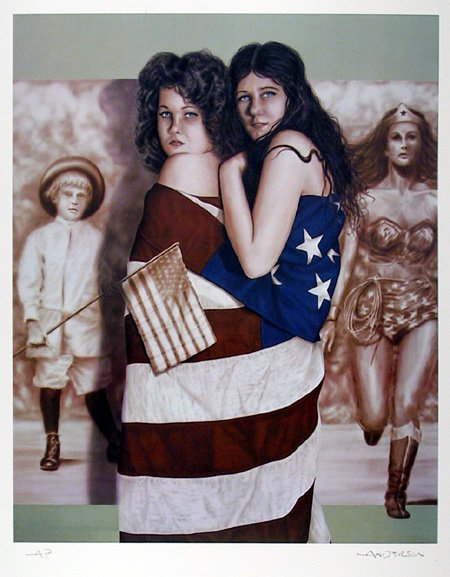 18: Robert Anderson Signed Lithograph, Patriotic Art
