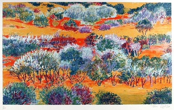 23: Thelma Appel Signed Serigraph, Landscape