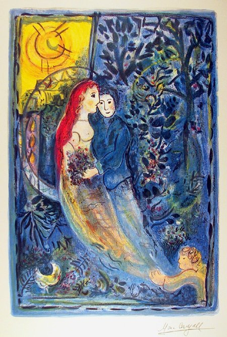 99: Marc Chagall, Lithograph, Wedding