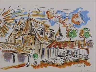 179: Wayne Ensrud Signed Lithograph, Chateau Haut Brion
