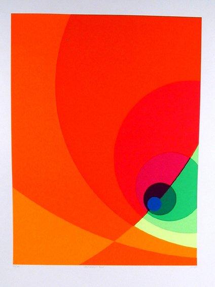 1: Herbert Aach Signed Lithograph, OP Art