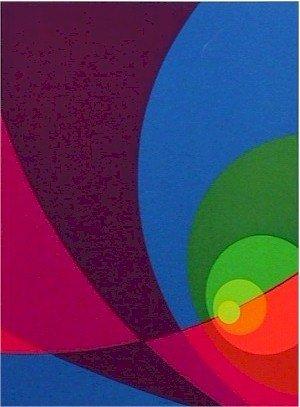 2: Herbert Aach Signed Lithograph, OP Art