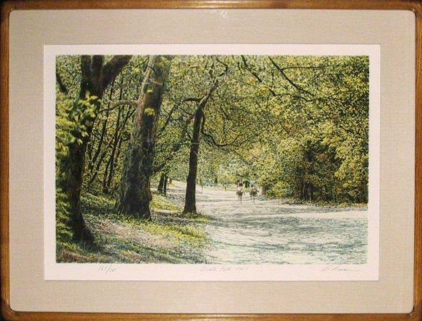 5: Harold Altman Signed Lithograph, Brindle Park, Frame