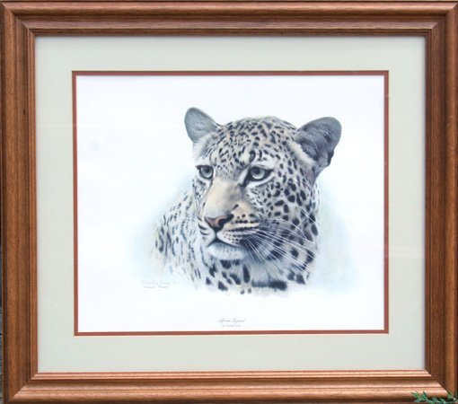 12: Charles Frace Signed Lithograph, African Leopard