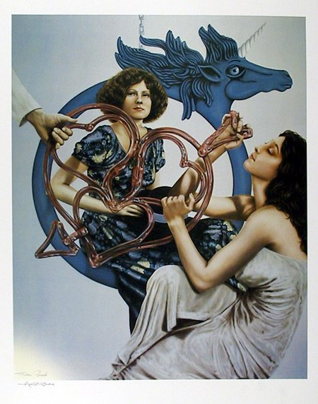16: Robert  Anderson Signed Lithograph, Two Women