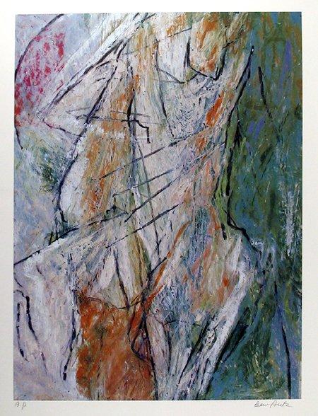 22: Ben Aritz Signed lithograph, Abstract Art