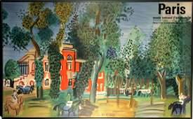 126: Raoul Dufy Lithograph Poster, Paris Museum