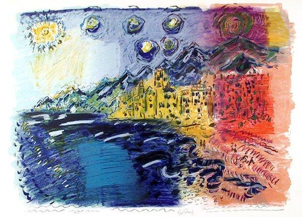 145: Wayne Ensrud Signed Lithograph, Landscape