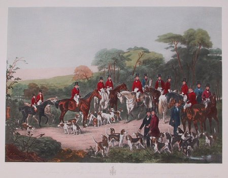 2005: C. Agar Signed Lithograph, The Bury Hunt""