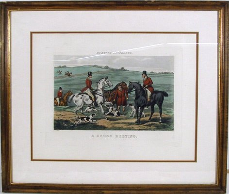 2009: H. Alken Framed Color Etching, Hunting Incidents""