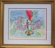 2278: Roberto Matta Signed Lithograph, Framed Or Dur Or