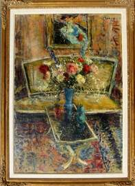 2377: Dimitrie Berea Framed Oil on Canvas, Still Life
