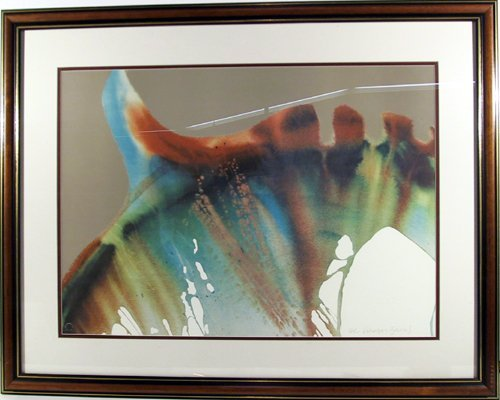 2386: Lamar Briggs Signed Lithograph, Abstract, Framed