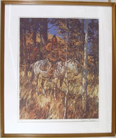 2388: Duane Bryers S/N Framed Lithograph, Western Art
