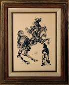 2397 Salvador Dali Framed Woodblock Print Devine Come