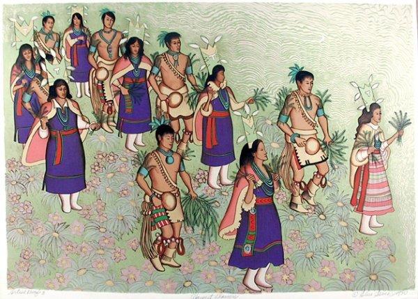 2693: Alice Asmar, Signed Lithograph Harvest Dancers
