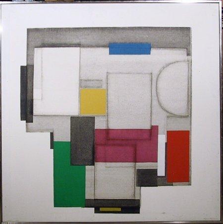2698: Norio Azuma, Signed Serigraph, Geometric Art