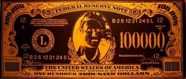 2939: Mike McKensie, Andy Warhol 100,000 Dollar Bill