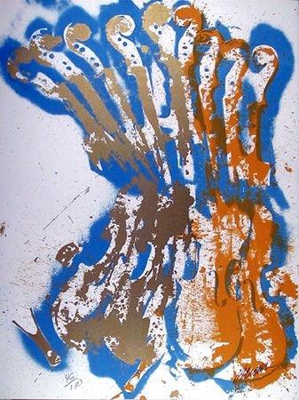 2691A: Arman Signed Serigraph, New Romanticism