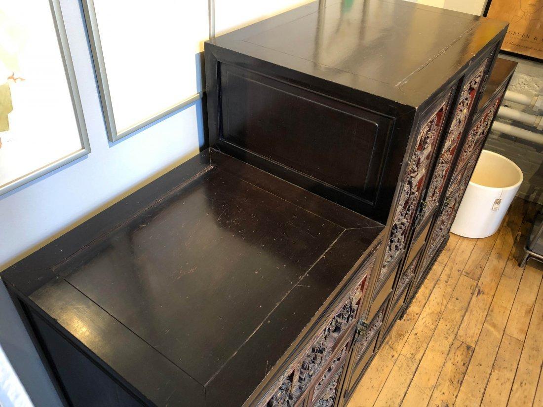 Antique Chinese Gilt & Hardwood Carved Cabinet - 4