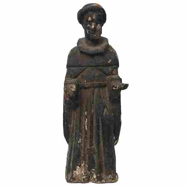 Antique Wood Carved Santo Figure Circa 1890