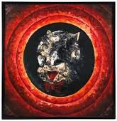 Original Abstract Porky Pig Painting
