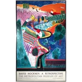Rare David Hockney Nichols Canyon 1988 at Met