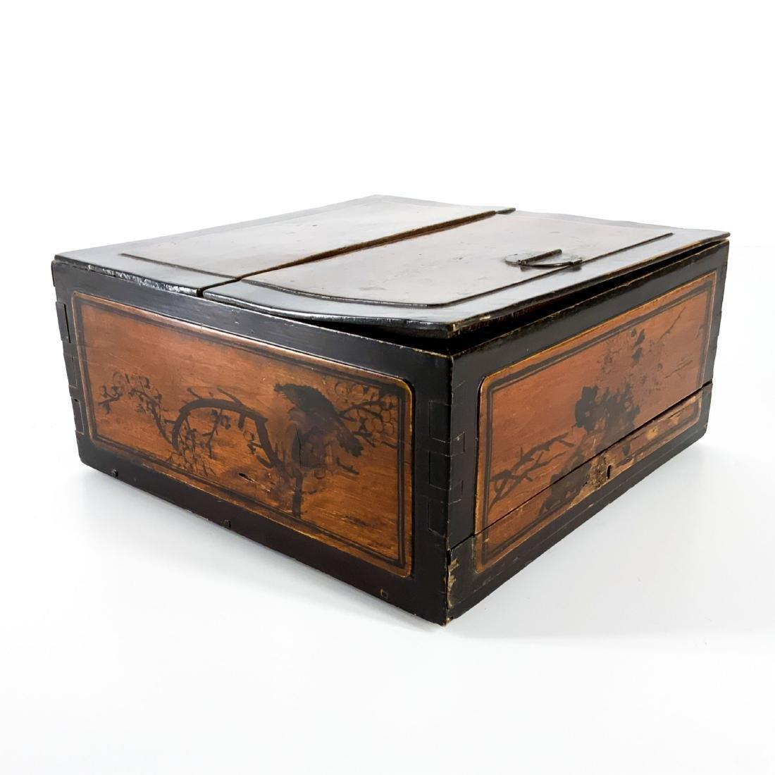 Antique 19th Century Asian Lap Desk Box